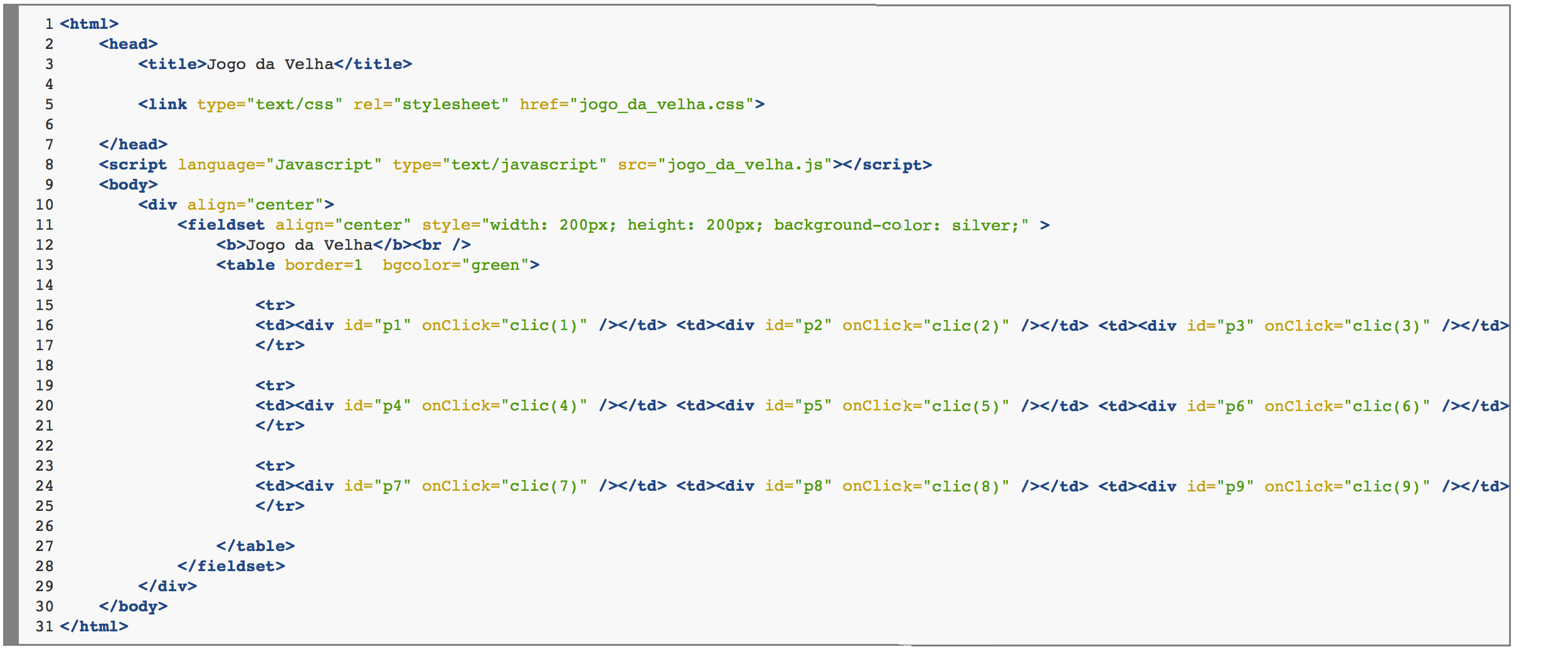 Jogo da Velha – Javascript | Updated Code